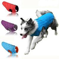Reversible Waterproof Warm Winter Dog Coat Clothes Padded Pet Puppy Vest Jacket