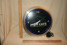 MAN CAVE  Clock - NEON / battery