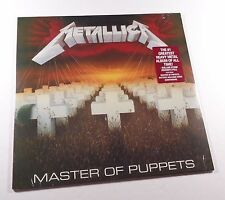 METALLICA Master Of Puppets LP BLACK VINYL *SEALED* megadeth slayer anthrax