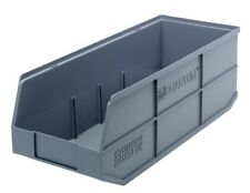 Shelf Bin 20 1/2-in x 8 1/4-in Gray QUANTUM STORAGE SYSTEMS SSB483GY Case of 6