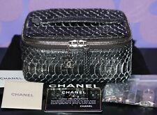 CHANEL Python Snakeskin TREASURE BOX Jewelry Watch Case Vanity Travel Bag *RARE*