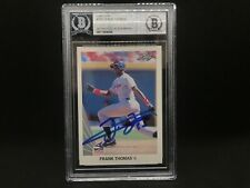 Frank Thomas Chicago White Sox SIGNED 1990 LEAF BECKETT CERTIFIED