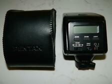 Pentax Af-330Ftz Auto Zoom Camera Flash Unit Hot Shoe Mount w/case , Euc