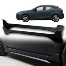 Fit 2014+ Mazda 3 Side Skirt pickup Artimo-R body kits 5 Door cover Black