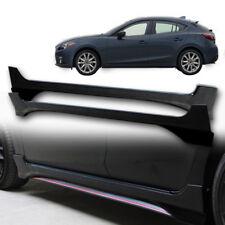 Fit 2014+ Mazda 3 Side Skirt pickup Artimo-R body kits 5 Door cover Black