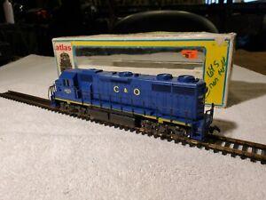 Ho Gauge Atlas # 7064 GP 38 diesel Ches & Ohio Rd# 4823 In VGC Runs Good!