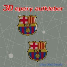 2 x FC Barcelona - 3D Gel - Aufkleber Sticker - Epoxy 40mm x 40mm - 2020