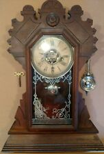 antique Waterbury gingerbread kitchen/parlor/mantle-alarm Clock- dragon motif gl