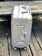 "20"" Aluminum Frame Waterproof Carry On Silver Luggage Case Spinner TSA Approved"