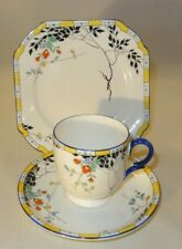 Vintage Shelley 11602 Leafy Branches Trio Cup Saucer Side Plate c1930 Lot A VGC