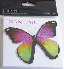 Thank You Open Foil 6 PK - Cards Pack 3 Simon Elvin Design Envelopes