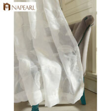 NAPEARL 1 Panel Embroidered Sheer Curtains Modern Window for Living Room Drapes