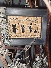 Primitive ~ CATS & PumPkins StitcherY ~ old quilt HALLOWEEN