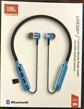 JBL Live 300 BT Wireless In-Ear Neckband Headphones Remote Mic BLUE