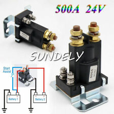 24V 4 Pin 500A AMP Dual Battery Isolator Car Relay Starter On/Off Power Switch