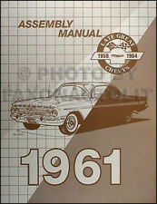 1961 Chevy Assembly Manual 61 Impala Bel Air Biscayne Car Chevrolet Factory