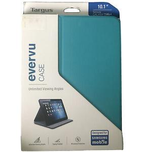 "Targus EverVu Samsung Galaxy Tab 4 10.1"" Case BLUE THZ45202EU Turquoise"