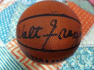 Walt Frazier Signed Autograph Mini NBA Spalding Basketball New York Knicks