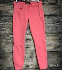 """Lucky Brand Women's Size 4/27 X 27"""" Jeans Pink Wash Sofia Skinny Mid Rise -J4"""