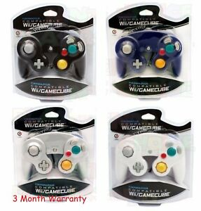 4 BRAND NEW CONTROLLERS FOR NINTENDO GAMECUBE or Wii GREEN, ORANGE,BLACK,SILVER