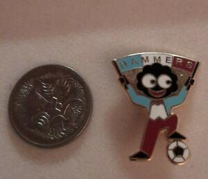 Vintage Enamel Brooch Badge Black Doll  Hammers Soccer Collectable Rare