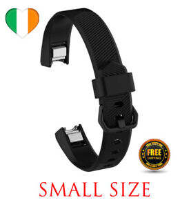 Black Strap For Fitbit Alta, HR, Ace Replacement Watch Band Silicone SMALL