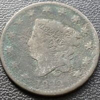 1822 Large Cent Coronet Head One Cent 1c circulated #28990