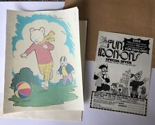 Vintage 1970s 1980s Rupert the Bear Bill Badger Iron On Fabric Transfer Large