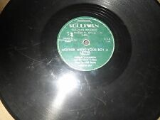 78RPM Sullivan 513 Curley Coldiron, Mother Write Your Boy Letter /Too Chiefs wV-