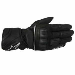 Alpinestars SP-Z Drystar Waterproof Leather Motorcycle Motorbike Gloves - Black