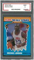1990-91 Fleer All Stars #5 of 12 MICHAEL JORDAN ~ BSG 9 Mint
