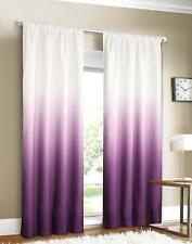 Set of 2 Gradient White Purple Floor Length Home Decor Curtain / Drape Panels