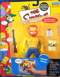 SERIES 8 THE SIMPSONS PLAYMATES RAGIN WILLIE ACTION FIGURE WOS MIP