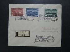 Austria SC# 382 - 384 On Cover / Budapest Ship Post Cancel / Registered - Z8248