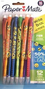 PAPER MATE SMILEY FACE 12 PACK MECHANICAL PENCILS