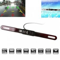 2.4G Wireless 5LED Autos License Plate Mount Rear View Reverse Backup Camera 12V