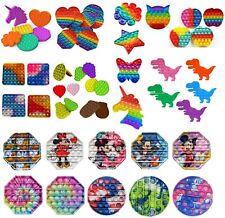 Pop Push It Bubble Sensory Fidget Kids Toy Special Needs Autism Stress Relief UK