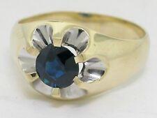 Saphir Ring 585 Gelbgold 14Kt Gold natürlicher Saphir
