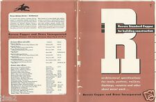 1947 REVERE COPPER & Brass Inc Building Catalog ASBESTOS Elastic Cement Product