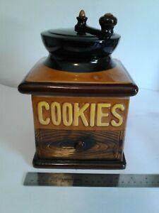 """Vintage Coffee Grinder Cookie Jar 10"""" X 7"""""""