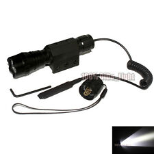UltraFire 501B CREE R5 LED 1Mode Tactical Flashlight + Pressure Switch Mount Set