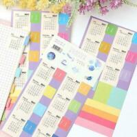 Clear Paper 2021 Jahr Kalender Aufkleber Monat Planer Datum Etikett Agenda P9H4