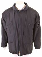 MARLBORO CLASSICS Mens Reversible Jacket EU 52 XL Navy Blue  NB14