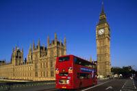 Big Ben Houses of Parliament Doubledecker Bus Photo Art Print Poster 18x12 inch