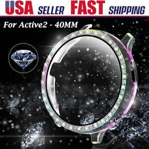 Fr Samsung Galaxy Watch Active 2 40mm Diamond Bumper Case Cover Screen Protector