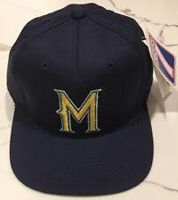 Vintage Milwaukee Brewers Snapback Hat Logo 7 NWT MLB Baseball Cap