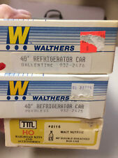 (3) Walthers & Train Miniature HO Refrigerator and Box Beer Cars