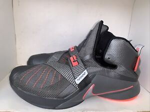 Nike Mens Lebron Soldier 9 Basketball Shoes Gray 749490-008 2015 Mid Top 12
