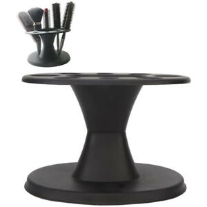 Salon Round Hair Brush Comb Holder Display Rack Hair Styling Brush Stand
