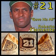 Pittsburgh's Roberto Clemente Hall Of Fame Induction Ring Size 11